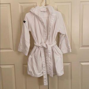 Lacoste women's logo white bathrobe
